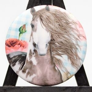 Set of 4 Country Horse Pocket Mirror Great Gift